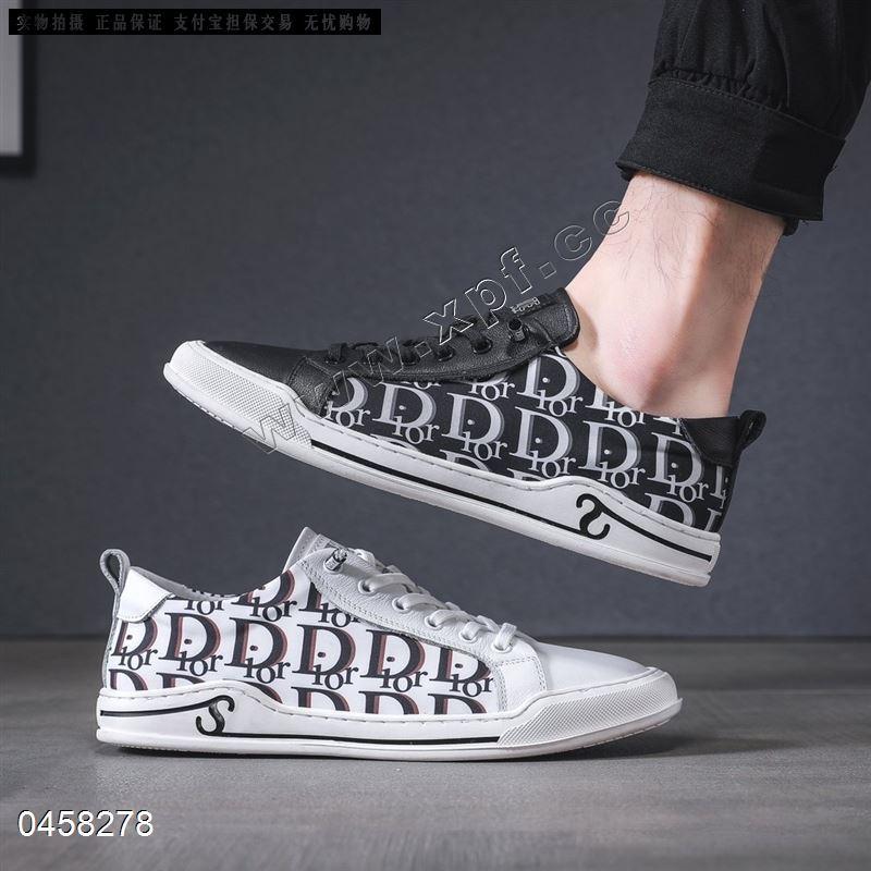 精品男士板鞋头层牛皮➕迪奥原版冰丝布7211