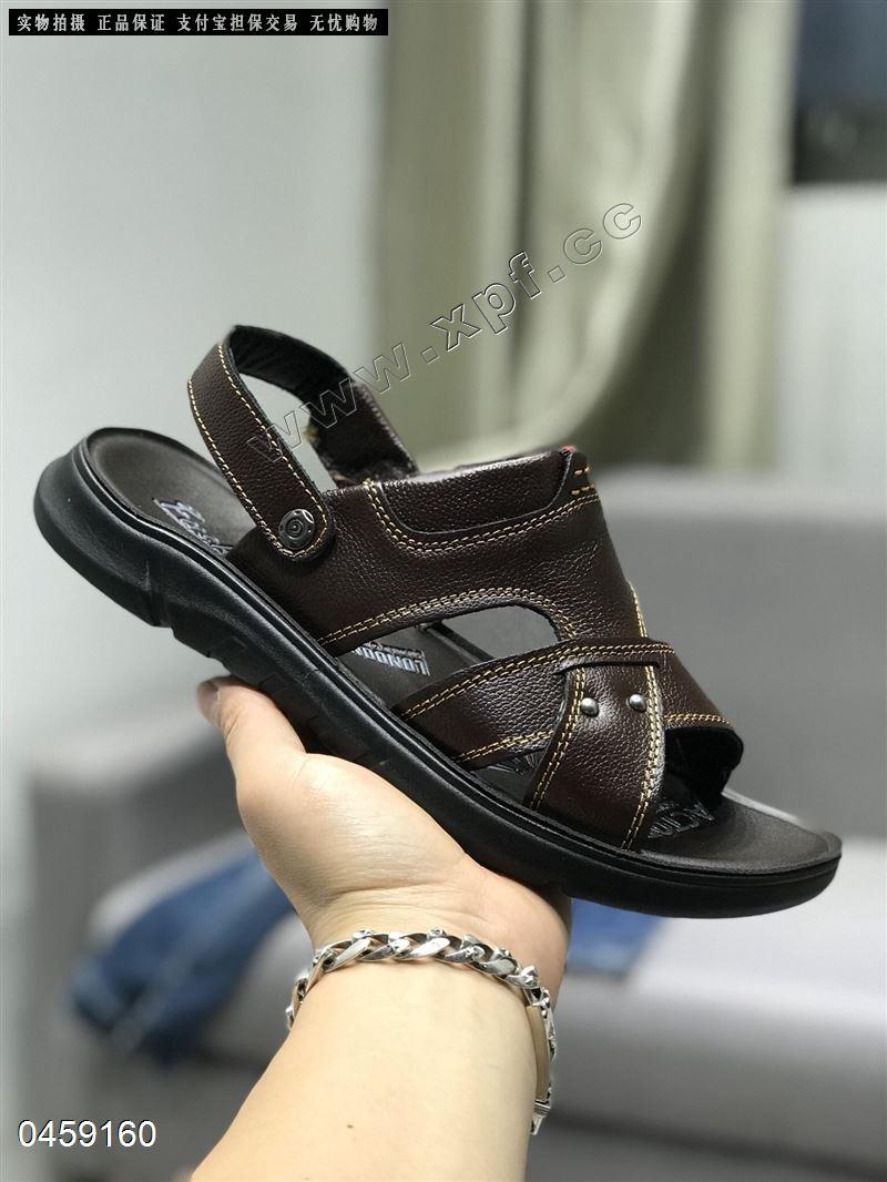古木桩品牌头层牛皮男士沙滩鞋7998