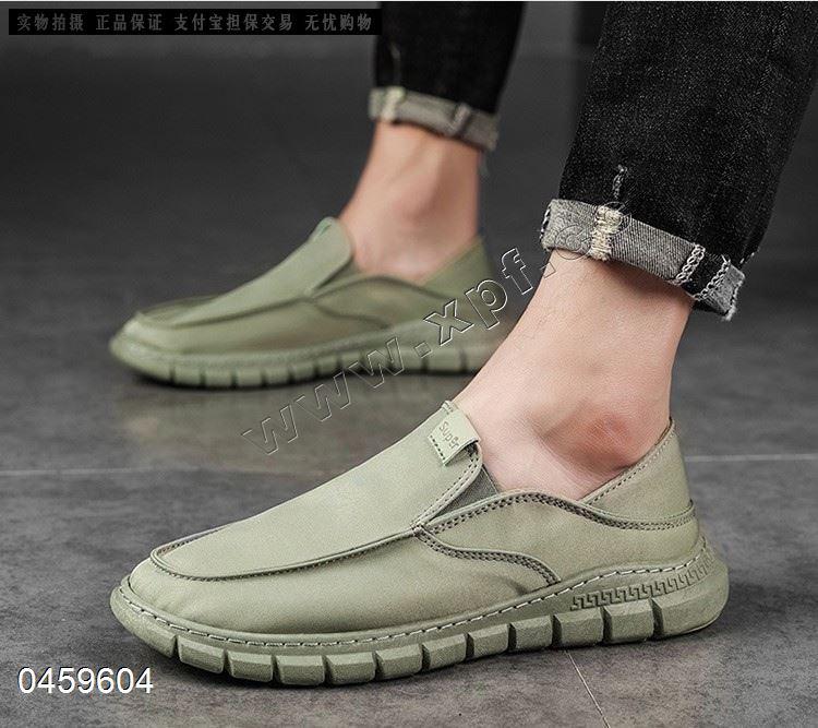 新款老北京雨伞布鞋一脚蹬透气男鞋套脚懒人鞋男士休闲板鞋819