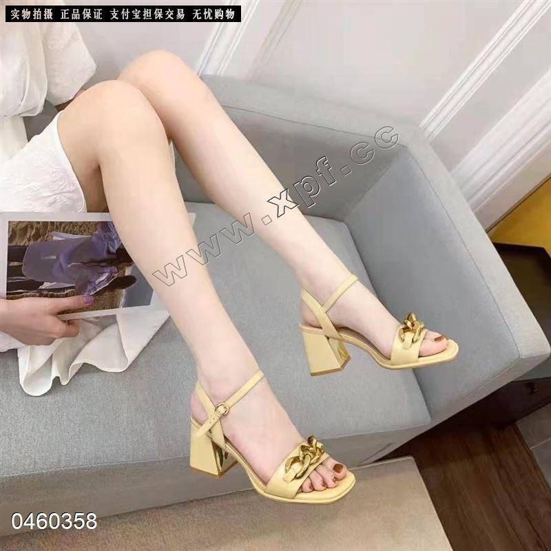 橙色密语时尚凉鞋9116(黄色567788米色567789)