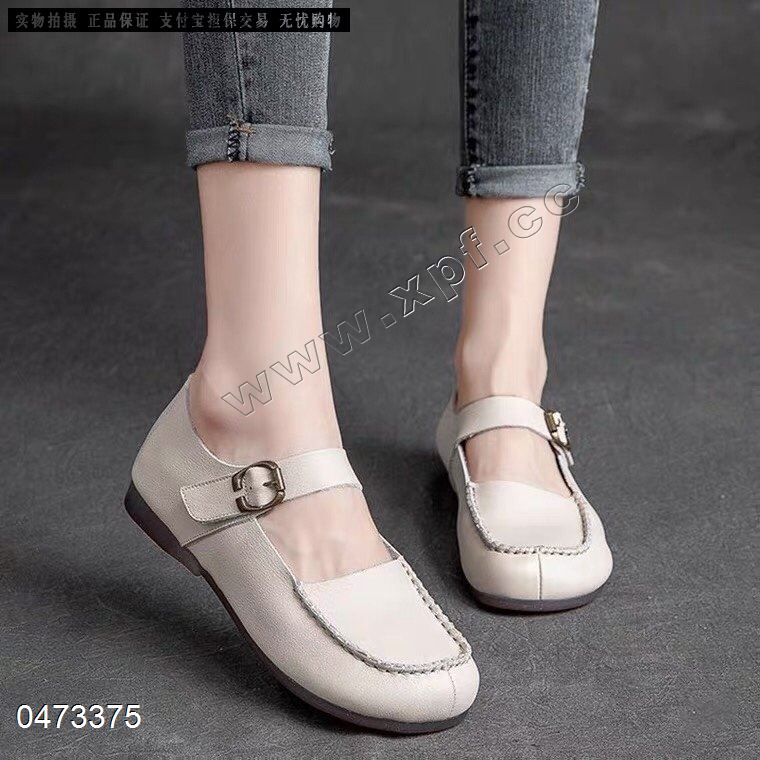啄木鸟品牌鞋头层牛皮里外全皮时尚单鞋