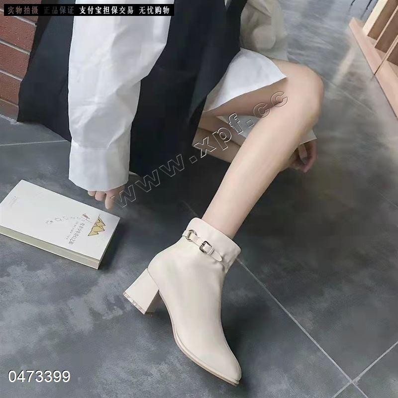 爆款阳光蝴蝶内里单时尚短靴