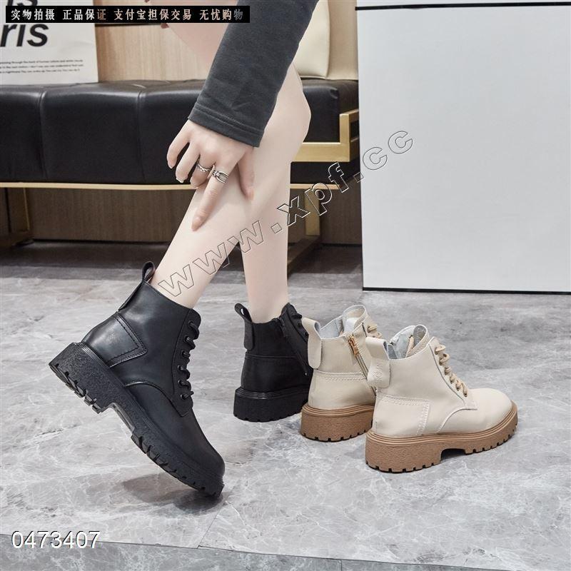 新款真皮时尚马丁靴