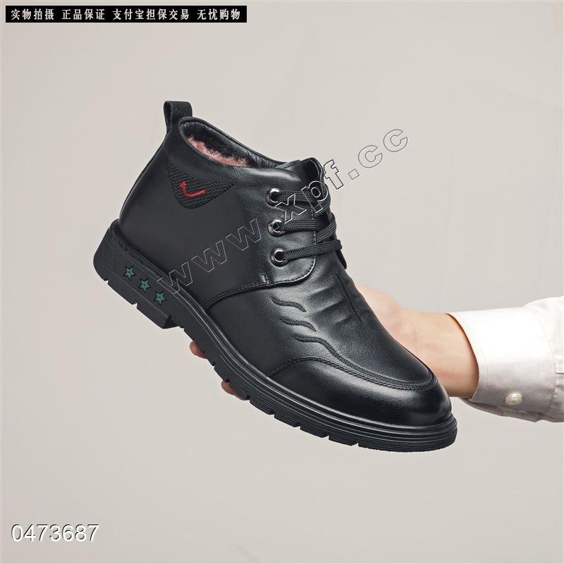 新款头层牛皮真毛内里棉鞋20213